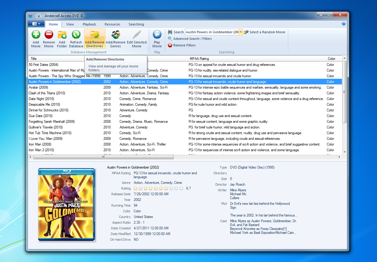 Movie Database Software - Andercell Access DVD Official Homepage